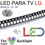 LED TV LG 2835 SMD 3V 1W  - 1 Real a Unidade ( Reposição para Barra de Led )