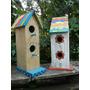 Casa De Pájaros Madera Decoración Vintage Love Diseño Jardín