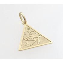 Olho De Horus Em Pingente De Ouro 18k - Paris Joias