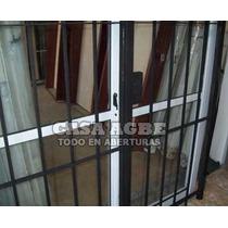 Puerta Reja Abrir 150x200 Redondo Del 12, Cerradura Y Llaves