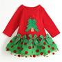 Vestido Infantil Mamãe Noel