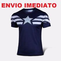 Camisa Capitão América Pronta Entrega - - Marvel Comics