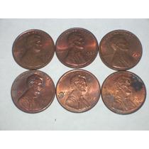 Lote 6 Monedas One Cent Antiguas..