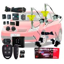Kit Vidro Elétrico Gol G5 4 Portas Traseiro + Trava + Alarme