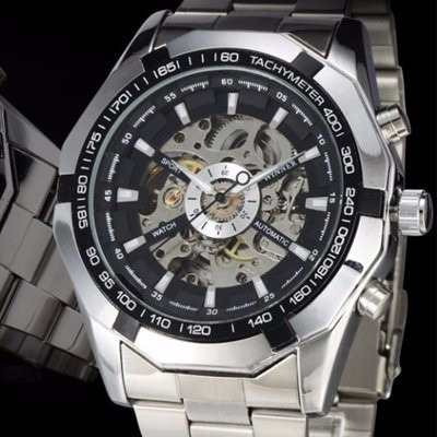 66cef94f723 Relógio Winner Skeleton Automático Original Pronta Entrega - R  153 ...