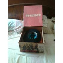 Sombrero Negro Stetson 6x Seminuevo Medida 7 3/8 Con Caja