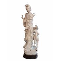 Escultura Chinesa Em Porcelana
