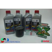 Troca Oleo Fox Castrol Magnatec 5w 40 Orig Vw 100% Sintetic