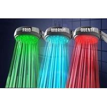 Ducha Chuveiro Led 3 Cores 3 Leds Colorido Multicolorido