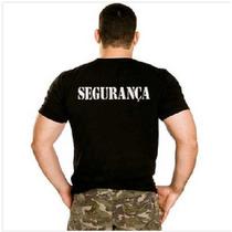 Camiseta Segurança Manga Curta Preto Escrito Em Branco