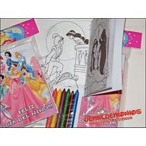 10 Libritos Colorear Pintar Personalizados 6 Crayones 10x15