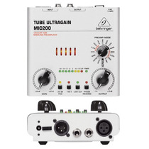 Pre Amplificador Behringer Valvulado Mic 200 Mic-200 Mic200