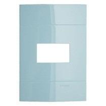 Placa 4x2 1 Posto Azul Mediterrâneo Prime Decor Schneider