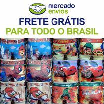 Kit 100 Cueca De Criança Boxer Sublimada Feita De Microfibra