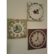 Relojes De Pared En Madera Artesanal Personalizados !!!