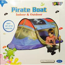 Carpa Barco Pirata Medidas 1,70 X 68 X 68 Fácil Armado!