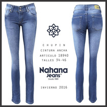 Jeans Elastizado Chupin Marca Nahana Talle 44