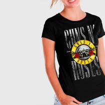 Camiseta Guns N Roses Red Flower Feminina - Ar