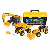 Kit 3 Maquinas Caterpillar Para Montar 272 Peças Dtc 3839