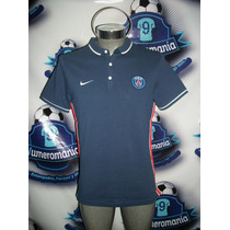 Jersey Tipo Polo Original Paris Sain Germain Azul Nike 15-16