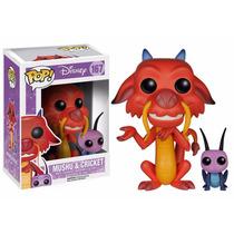 Mushu Y Cricket Funko Pop #167 Disney Mulan Dragon Y Grillo