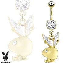 Piercing Para Ombligo Playboy Original Conejo Dorado