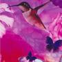 Varios - V23 - Flores Rosas y Colibri - Ancho 0,50m