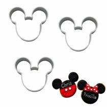 Cortador Galletas Mickey Mouse Pan Pasta Fondant Aluminio