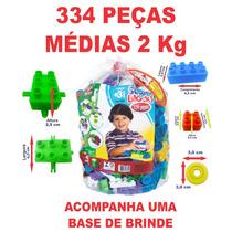 Brinquedos Menino Bolsa C. 334 Pçs. Blocos Educativos