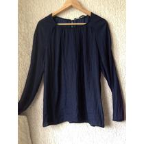 Bella Blusa Azul Marca Zara Woman Talla L
