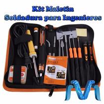 Kit Maletin De Soldadura, Cautin, Estaño, Desoldador, Soldar