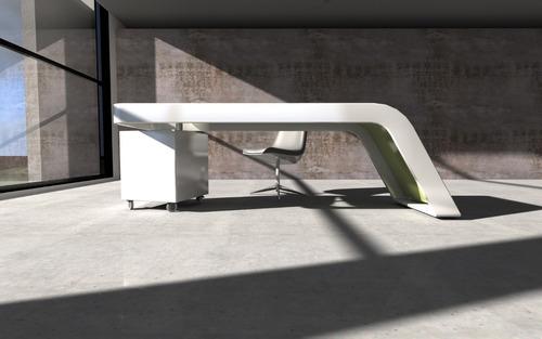 Escritorio Laqueado Mesa Diseño Moderno Muebles Oficina - $ 50.015 ...