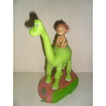 Un Gran Dinosaurio Adorno De Torta Porcelana Fría Belgrano