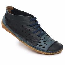 Sapato (sistema Comfort) Estilo Retro Em Couro Nr.38