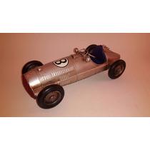 Auto Carrera Miniatura Plateado De Decoracion Microcentro