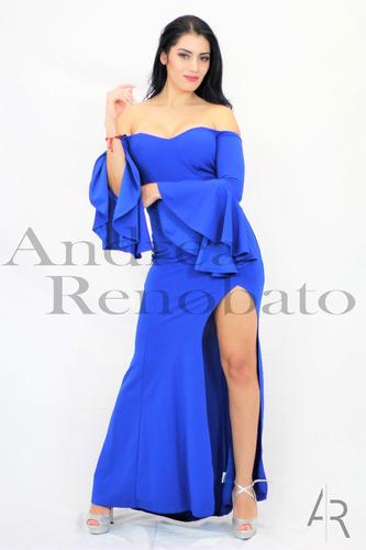 Fotos de vestidos de noche azul rey