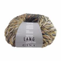 Estambre Lang Yarns Gina 026 Verde Y Dorado Nuevo