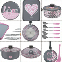 Set De Bateria Especial Tramontina My Lovely Kitchen 10 Pzas