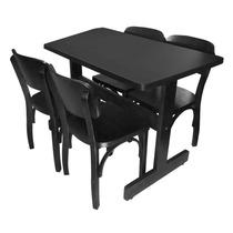 Conjunto Mesa Base Em H Com 4 Cadeiras Boteco Antigo