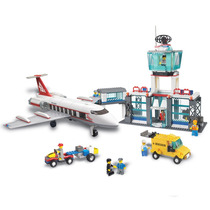 Brinquedo Blocos De Encaixe Aeroporto 791 Pçs Xalingo
