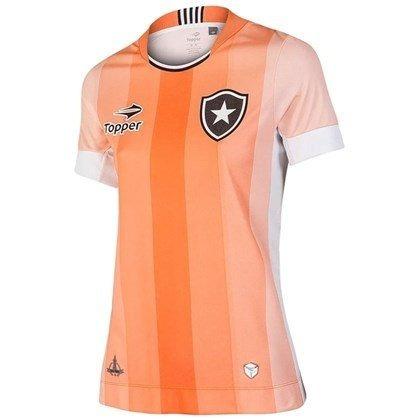 828ddbe061 Camisa Feminina Botafogo Oficial Topper Laranja Coral 2016 - R  91 ...
