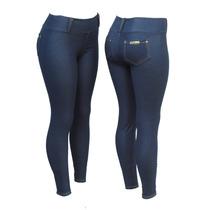 Calça Legging Cotton Jeans C/ Bolsos Atrás