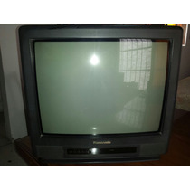 Televisor Pantalla Negra, 21 Pulgadas, Panasonic.