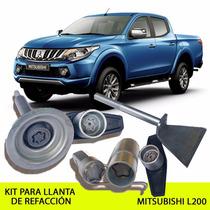 Promoción Kit Seguridad Llanta De Refacción Mitsubishi L200