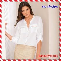 Blusas Elegantes En Chifon Etresh Y Chifon Transparente Sml