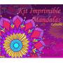 Kit Imprimible Mandalas Coloridos Cumpleaños Editables 2x1