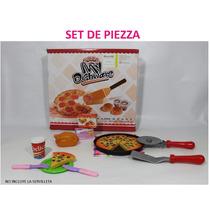 Juego De Comida- Pizza Cocina De Juguete Para Niña
