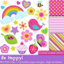 Kit Imprimible Pajaritos 28 Imagenes Clipart