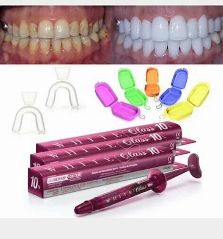 Kit Clareador Dental White Class 10 Moldeira R 85 90 Em