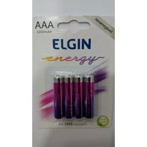 Pilha Recarregável Elgin Aaa-1000 Mah Blister C/ 4